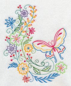 Machine Embroidery Designs at Embroidery Library! - On Sale Machine Embroidery Patterns, Hand Embroidery Designs, Floral Embroidery, Cross Stitch Embroidery, Cherry Blossom Drawing, Polish Embroidery, Quilling Patterns, Quilt Stitching, Pottery Painting