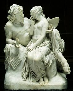 Pan Comforting Psyche.  1857-58.Reinhold Begas. German 1831-1911