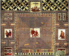 Em algum lugar do labirinto,   Teseu perdeu o cachecol que Ariadne lhe dera.  Desfiava-o para que pudesse voltar.   Em cada centímetro de fio, quilômetros de lembranças.  E a memória o prendia ao minotauro.  Foi que percebeu que não era prisioneiro das paredes   Mas de distâncias de significados.    E o frio na alma o acalentou.    Texto: Otavio Venturoli   http://devidadividida.blogspot.com.br/  Imagem: Mosaico de piso romano