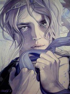 Daeron. Por lo que se cuenta, sabemos que este Elfo era de hermosa figura, ojos oscuros y manos largas y dedos ágiles, lo cual denotaba su destreza manual. Pero a pesar de su inmenso talento en diversas artes Daeron será recordado primordialmente por ser el infeliz y solitario enamorado de la princesa elfa Lúthien Tinúviel la más bella de las criaturas que pisaron la Tierra Media, lo que marcaría toda su existencia.