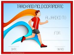 track and field certificate templates free customizable with our online certificate maker many more sports awards on this site - Cross Country Certificate Templates Free