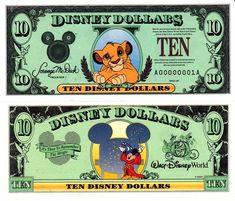 1997 $10 Young Simba - Lion King Disney Dollar Disney Money, Disney Diy, Disney Crafts, Disney And Dreamworks, Disney Pixar, Walt Disney, Disney Princess Memes, Disney Activities, Stitch Drawing