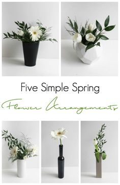 Beautiful modern spring flower arrangements! An easy tutorial for beginners! Learn to arrange beautiful spring centrepieces for Easter, Mother