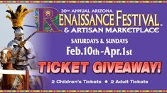 Magical Moments Await! Enter for a chance to win 4 tickets to the Arizona Renaissance Festival!