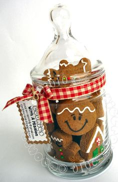 Gingerbread Goodness in a Jar.... cute Christmas gift idea using any kind of cookie or treat