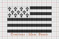 """Je vous donne dans ce """" Bonus Mamigoz """" plusieurs grilles de drapeaux bretons de tailles différentes. Ils s'adapteront parfaitement à vos souhaits. A bientôt Bonne journée"""