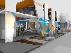 Tourism Stand of Canarias by Miguel Peixoto : Design Studio , via Behance