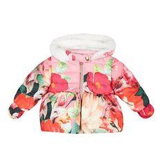 115556e78 Baker by Ted Baker Babies pink botanical print padded coat