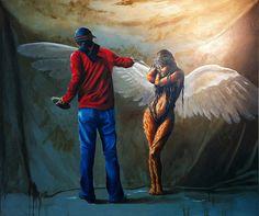 """""""Angela Creation"""" Oil on canvas 150x180cm Avihai cohen Art אביחי כהן"""