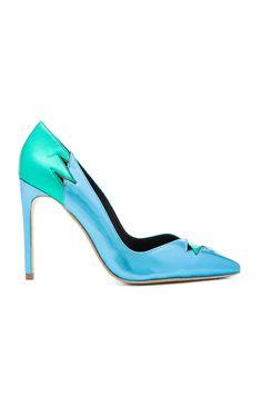 Jeffrey Campbell Verge Heels in Green Blue Metallic Combo