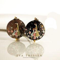 Handmade Polymer Clay Pendants by Eva Thissen.  So cute!