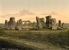 Stonehenge in the 1890s, before the cattle fences for the tourists.