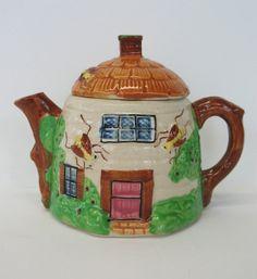 Cottage Teapot Japan Beehive Tea Pot by FindingMaineVintage