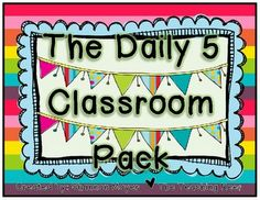 Free on TpT 2nd Grade: Daily 5 Classroom Pack