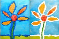 Flower painting ideas for kids painting for kids tape resist flower Foam Crafts, Arts And Crafts, Drawing Sketches, Art Drawings, Sidewalk Chalk Paint, Art Quotes Artists, Rainbow Painting, Painted Sticks, Mason Jar Crafts