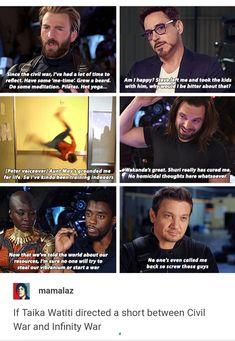 Omg Clint 😂 If Taika Watiti directed a short before Infinity War Avengers Memes, The Avengers, Marvel Jokes, Marvel Funny, Marvel Universe, Marvel Dc Comics, Marvel Heroes, Marvel Actors, Fangirl