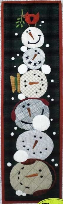 Frosty Mugs Wool Applique Quilt Pattern by Threads That Bind