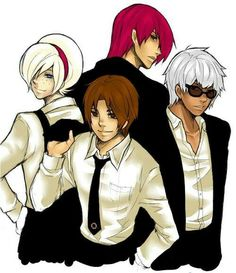 KoF Protagonist: Ash, Kyo, Iori and K' Snk Games, Snk King Of Fighters, All Star, Street Fights, Fighting Games, Anime Comics, Vaporwave, Game Art, Character Art