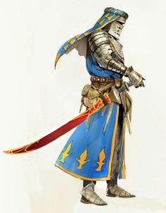 Art featuring medieval knights and their fantasy/sci-fi counterparts. 3d Fantasy, Fantasy Armor, Medieval Fantasy, Dark Fantasy, Character Concept, Character Art, Concept Art, Dnd Characters, Fantasy Characters