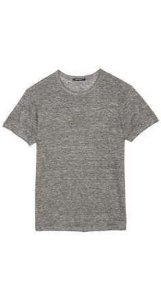 simple grey tee