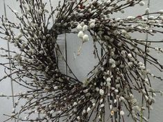 Pussy Willow Wreath Pussy Willow Large Wreath Natural Wreath Spring and Summer Wreath Rustic Wreath Easter Wreath Front Door Wreath Autumn Wreaths For Front Door, Spring Door Wreaths, Easter Wreaths, Summer Wreath, Willow Wreath, Twig Wreath, Hydrangea Wreath, Heart Wreath, Purple Wreath