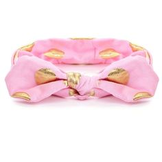Pink and Gold Dot Top Knot Headband