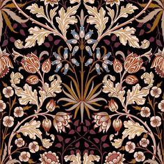 Ideas Wall Paper Dark Art William Morris For 2019 William Morris Wallpaper, William Morris Art, Morris Wallpapers, Fabric Wallpaper, Of Wallpaper, Wallpaper Backgrounds, Motifs Art Nouveau, Art Projects For Adults, Motif Floral