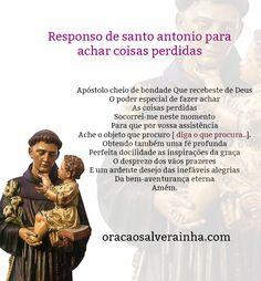 Responso de Santo António para achar coisas perdidas