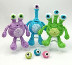 Mesmerizing Crochet an Amigurumi Rabbit Ideas. Lovely Crochet an Amigurumi Rabbit Ideas. Crochet Patterns Amigurumi, Amigurumi Doll, Crochet Dolls, Crochet Monsters, Crochet Animals, Amigurumi For Beginners, Mini Monster, Love Crochet, Stuffed Toys Patterns