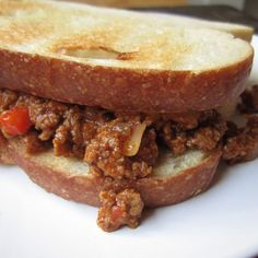 Picture of sloppy joes