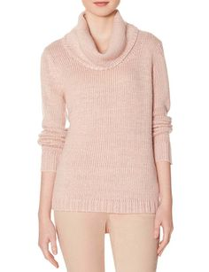 Cowl Neck Shine Sweater