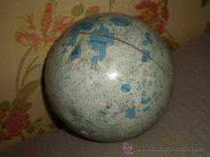 Lunar Globe. Moon Ball. Map of the Moon. Lunar Sphere tin. 1966.