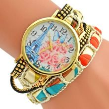 2016 populární módní design železná věž Ladies Hodinky ležérní styl náramek hodinky Dámské oblečení Ženeva značka hodinek s dlouhým řetězcem (Čína (pevninská část))