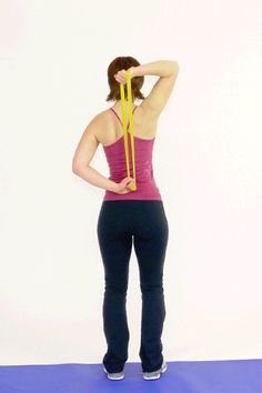 Overhead Triceps Press with Band