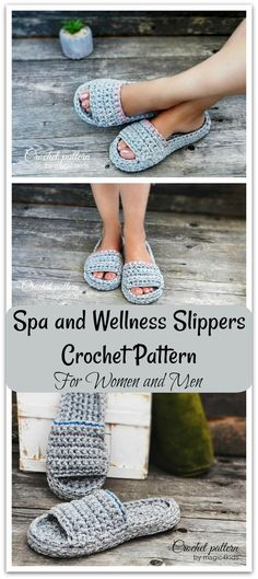 I'm loving these slippers because they have super thick soles, are made with t-shirt yarn, and are so comfy. Make these slippers in any color, decorate it in many ways. Also, you could make it for yourself or as gifts for your family members or friends. Instant download. #ad #affiliate #crochet #pattern