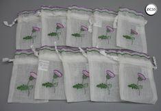 10 Thistle Embroidered Scottish Wedding Favour Drawstring Bags | eBay