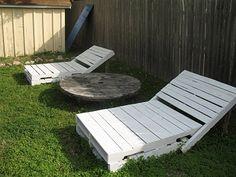 Cadeiras para o Jardim feito de Pallets