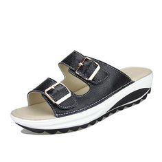 69ec7668570b  EBay  Muqing 2017 Fashion Women Sandals Slip On Slipper Casual Shoes Candy  Color Buckle Beach Summer Shoes 7N0036