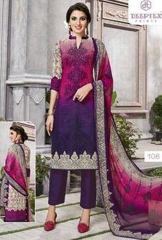 Deeptex Moon Light Karachi Cotton Suits (10 pc catalog)