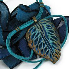 Tutorial Polymer Clay Leaf Necklace