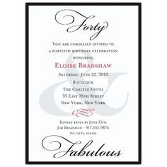 40th Birthday Invitation Wording Invites 50th 80th