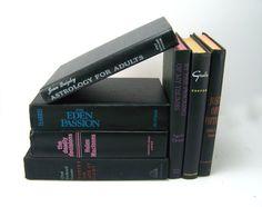 Decorative Vintage Black Books Photo Props by FineLineTreasures, $35.00
