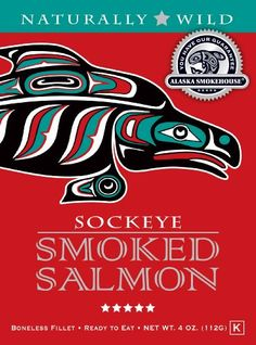 Alaska Smokehouse Sockeye Salmon in a Gift Box, 4 oz [Misc.]