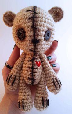 VooDoo Doll - Cute Teddy Bear - Crochet Amigurumi - Plush Animals - Stuffed Toy - lauriegorexx @ Etsy