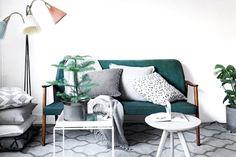 Vintage + scandinavian style in the living room