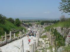 The ancient city of Ephesus in southwest Turkey.a truly great honeymoon destination! Ephesus, Honeymoon Destinations, Dolores Park, Turkey, City, Reading, Beach, Water, Books