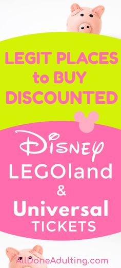 Yes! There are actually ways to buy discount tickets for Disney, Universal, Legoland and other major attractions across the U.S.! This is an updated source of the best authorized resellers to save you money on Disney tickets, Universal tickets and Legoland tickets. #disneydiscounts #savemoneyondisney