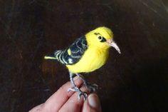 Needle felted bird - by Elina Detsi