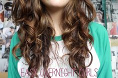KJ .::. Easy Overnight Curls Tutorial