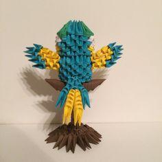 3D Origami perché Macaw